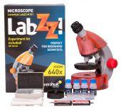 Mikroskop Levenhuk LabZZ M101 Orange, objektivy: 4x,10x,40x, 2 baterie AA, zvětšení 640x, oranžový (57120054)
