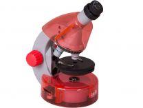 Mikroskop Levenhuk LabZZ M101 Orange, objektivy: 4x,10x,40x, zvětšení 640x, oranžový