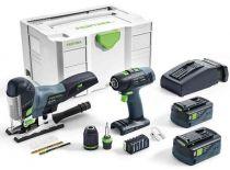 Sada aku nářadí Festool T 18+3/PSC 420 Li I-Set: T18+3 + PSC 420 EB + 2x aku 18V/5.2Ah + kufr