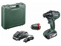Bosch AdvancedDrill 18 - 1x 18V/2.5Ah, 32Nm, 1kg, kufr, aku vrtačka bez příklepu