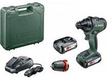Bosch AdvancedDrill 18 - 2x 18V/2.5Ah, 32Nm, 1kg, kufr, aku vrtačka bez příklepu