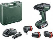 Bosch AdvancedImpact 18 - 1x 18V/2.5Ah, 32Nm, 1.1kg, nástavce, kufr, aku vrtačka bez příklepu