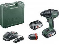 Bosch AdvancedImpact 18 - 2x 18V/2.5Ah, 32Nm, 1.1kg, kufr, aku vrtačka bez příklepu