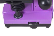 Mikroskop Levenhuk Rainbow 2L Amethyst, zvětšení 40-400x, pro průhledné i neprůhledné preparáty, fialový (57120028)