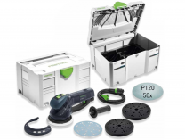 Festool RO 150 CAMP-Set: RO 150 FEQ-Plus ROTEX + 2xSystainer + 50 brus. pap. + Ochr. podložka