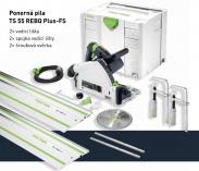 Festool TS 55 CAMP-Set: TS 55 REBQ-Plus + 2x vodící lišta + 2x spojka lišty + 2x šroubová svěrka