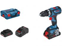Bosch GSB 18V-60 C Professional - 2x 18V/4.0Ah, 60Nm, kufr, bezuhlíková aku vrtačka s příklepem