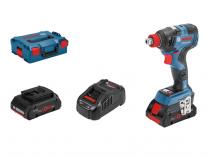 Bosch GDX 18V-200 C Professional - 2x 18V/4.0Ah, 200Nm, 1.2kg, bezuhlíkový aku rázový utahovák