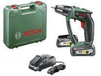 Bosch PSR 18 LI-2 - 2x 18V/2.5Ah, 32Nm, 1.25kg, kufr, aku vrtačka bez příklepu