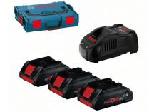 Bosch Startovací sada: 3x ProCORE18V 4.0Ah + GAL 1880 CV Professional + kufr