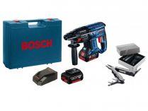 Kombi aku kladivo Bosch GBH 180-LI Professional - 2x 18V/4.0Ah, 1.7J, 2.6kg, kufr, dárek