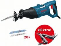 Pila ocaska Bosch GSA 1100 E Professional - 1100W, 28mm, 3.9kg, 20x pilový plátek, dárek