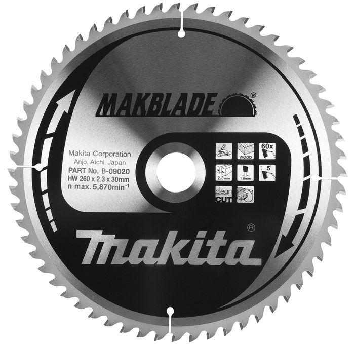 Pilový kotouč na dřevo Makita B-09042 MAKBLADE, 190x20mm, 60 zubů, do pokosové, stolní a ponorné kotoučové pily