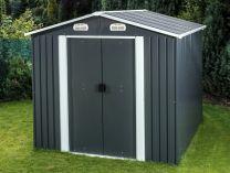 Plechový zahradní domek Tinman TIN405 - šedý, 278x323x216.6cm, 108kg