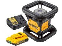 Aku rotační laser DeWALT DCE080D1RS-QW - 1x 18V/2.0Ah, červený, Bluetooth