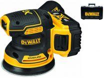 Bezuhlíková aku excentrická bruska DeWALT DCW210P2-QW - 2x 18V/2.0Ah, 125mm, 1.3kg, kufr