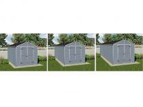 Palram rozšíření pro zahradní domek Skylight 8x4 šedý - 149.5x228x234cm