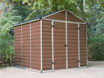 Palram Skylight 8x8 hnědý - 223x223x228cm, polykarbonátový zahradní domek