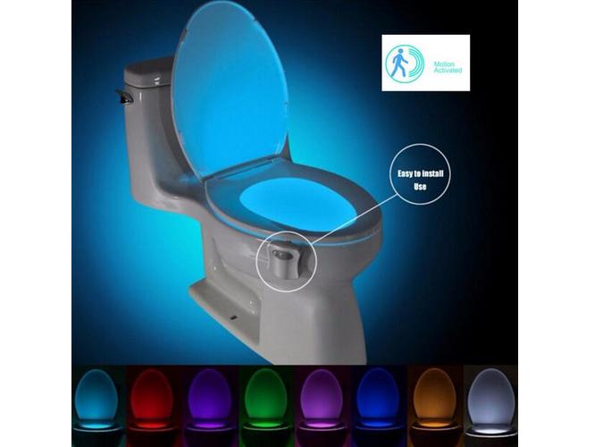 WC LED osvětlení toalety s pohybovým čidlem s možností nastavení 8 barev Goodland