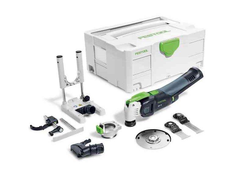 Aku multifunkční nářadí Festool OSC 18 Li E-Basic Set VECTURO - 18V, příslušenství, kufr, bez akumulátoru a nabíječky (574849)