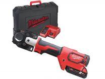 Bezuhlíkový aku hydraulický lis Milwaukee M18 HCCT-201C - 1x 18V/2.0Ah, 53kN, 3.7kg, kufr