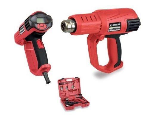 Horkovzdušná pistole STAYER SU 650 EDK - 2000W, regulace 50-650°C, 0.9kg, kufr (377SU650EDK)