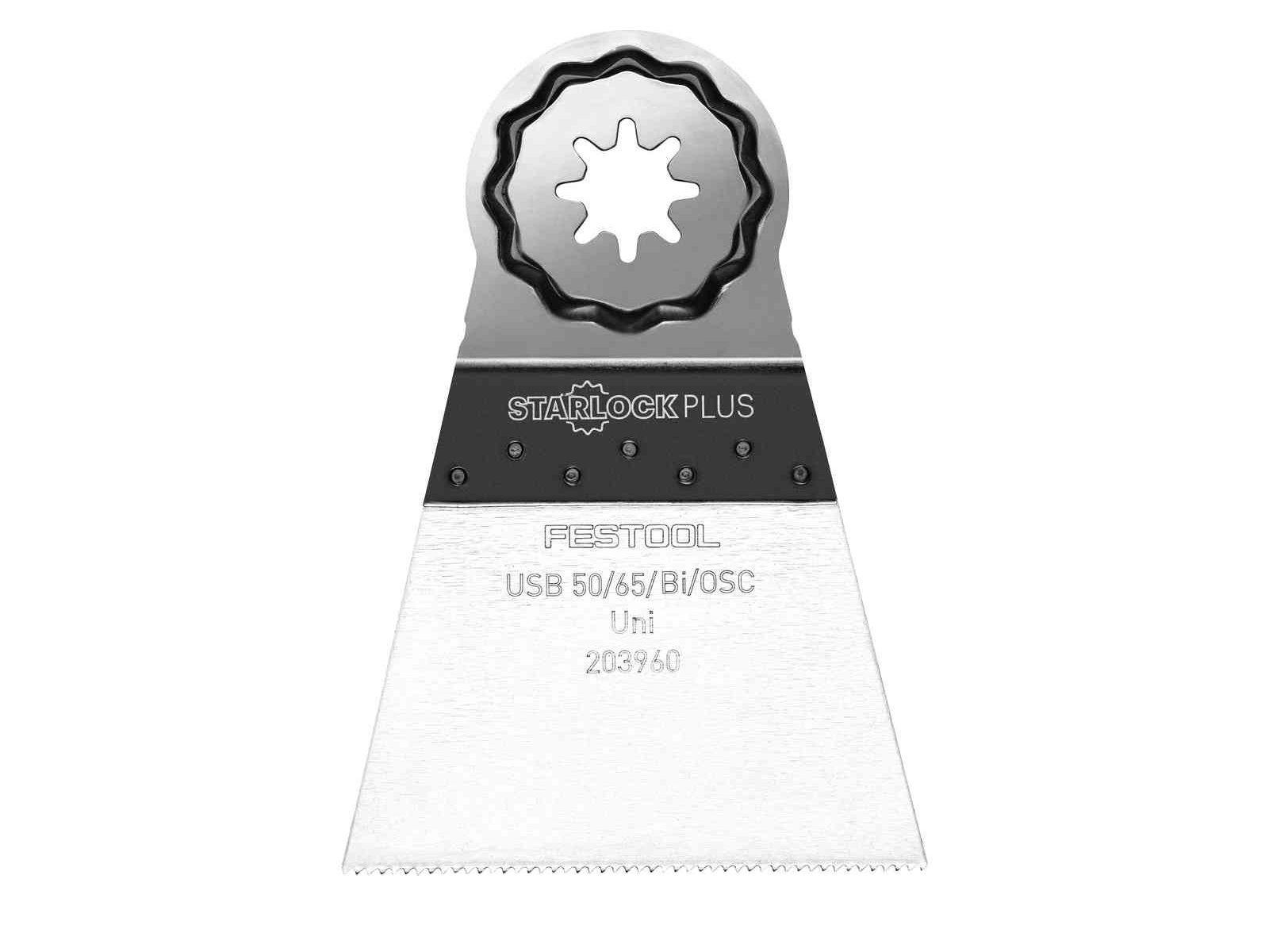 5ks BIM ponorný pilový list pro aku multifunkční nářadí Festool OSC 18 - 50x65mm (Festool USB 50/65/Bi/OSC/5), kód: 203960