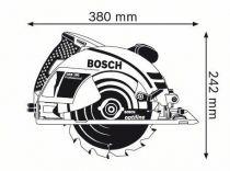 Kotoučová pila Bosch GKS 190 Professional - 1400W, 190mm, 4.2kg, mafl, příslušenství, dárek Box na nářadí Toolbox PRO (0615990L2E) Bosch PROFI
