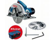 Kotoučová pila Bosch GKS 190 Professional - 1400W, 190mm, 4.2kg, mafl, příslušenství, dárek