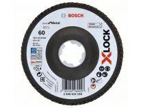Lamelový brusný kotouč X-LOCK Bosch Best for Metal, 115mm, zr.60, šikmý
