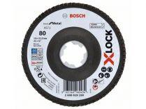 Lamelový brusný kotouč X-LOCK Bosch Best for Metal, 115mm, zr.80, šikmý