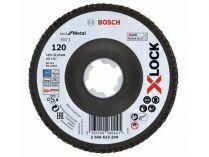 Lamelový brusný kotouč X-LOCK Bosch Best for Metal, 115mm, zr.120, šikmý