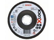 Lamelový brusný kotouč X-LOCK Bosch Best for Metal, 125mm, zr.40, šikmý