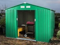 Plechový zahradní domek Tinman TIN304 - zelený, 238x236x211cm, 100kg