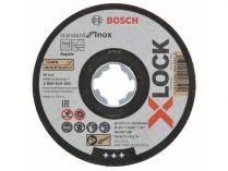 10x Řezný kotouč X-LOCK Bosch Standard for Inox - 115x1.0x22.23mm, plochý
