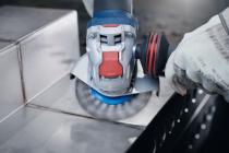 Hrncový ocelový kartáč na kov pro úhlové brusky se systémem X-LOCK Bosch Heavy for Metal - 75mm, 0.35mm, copánkový drát (2608620726) Bosch příslušenství