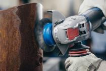 Hrncový ocelový kartáč na kov pro úhlové brusky se systémem X-LOCK Bosch Clean for Metal - 75mm, 0.3mm, vlnitý drát, mosazný povrch (2608620730) Bosch příslušenství