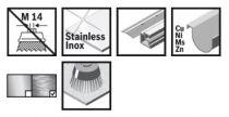 Hrncový ocelový kartáč na nerez pro úhlové brusky se systémem X-LOCK Bosch Heavy for Inox - 75mm, 0.5mm, copánkový drát (2608620729) Bosch příslušenství