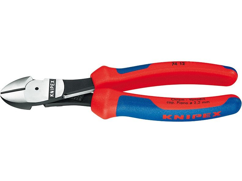 KNIPEX - Kleště štípací boční - 160mm - na štípání drátu, dvousložkové rukojeti, s pružinou (7412160)