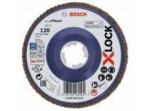 Lamelový brusný kotouč X-LOCK Bosch Best for Metal, 125mm, zr.120, rovný