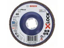 Lamelový brusný kotouč X-LOCK Bosch Best for Metal, 115mm, zr.40, rovný