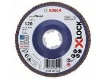 Lamelový brusný kotouč X-LOCK Bosch Best for Metal, 115mm, zr.120, rovný