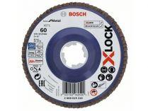 Lamelový brusný kotouč X-LOCK Bosch Best for Metal, 125mm, zr.60, rovný