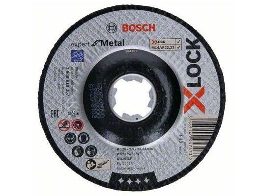 Řezný kotouč na kov pro úhlové brusky se systémem X-LOCK Bosch Expert for Metal - 125 x 2.5 x 22.23 mm, prolomený (2608619257) Bosch příslušenství
