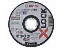 Řezný kotouč X-LOCK Bosch Expert for Inox+Metal - 115x1.0x22.23mm, plochý