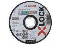Řezný kotouč na nerez, hliník, cihly, plasty a obklady pro úhlové brusky se systémem X-LOCK Bosch Multi Material - 125 x 1.0 x 22.23 mm, plochý (2608619269) Bosch příslušenství