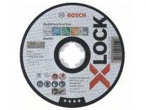 Řezný kotouč X-LOCK Bosch Multi Material - 125x1.6x22.23mm, plochý