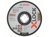 Řezný kotouč X-LOCK Bosch Standard for Inox - 125x1.0x22.23mm, plochý
