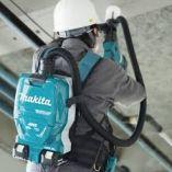 Bezuhlíkový aku zádový vysavač Makita DVC265ZXU - 2x18V, 3.2kg, bez akumulátoru a nabíječky