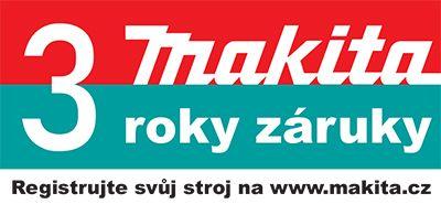 Registrace 3 leté záruky strojů Makita